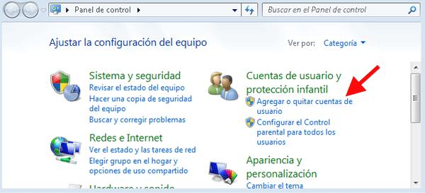 Como agregar cuentas de usuario en Windows Seven
