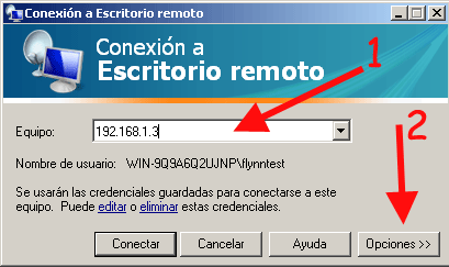 Conectarse a escritorio remoto con Windows XP