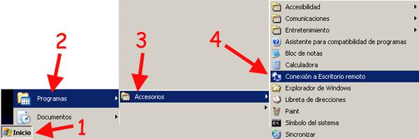 Conexion a escritorio remoto