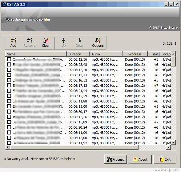 bs-fag es un programa para que varios vídeos tengan el mismo volumen